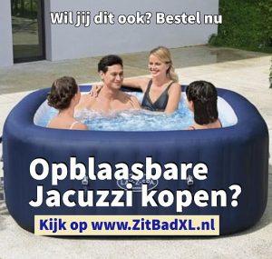 Opblaasbare jacuzzi kopen - ZitBad voor volwassenen - Geniet thuis van Luxe in je hottub - www.ZitBadXL.nl